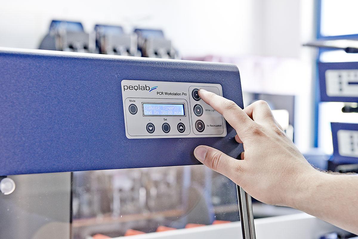 Inbetriebnahme und Prüfung PCR Workstation