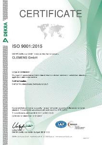 Certificate EN ISO 9001